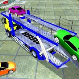 Car Transporter Truck Drive