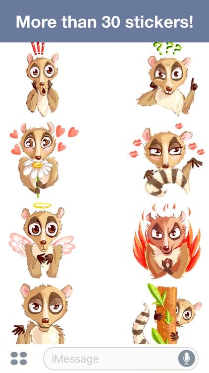Lemur - Cute stickers