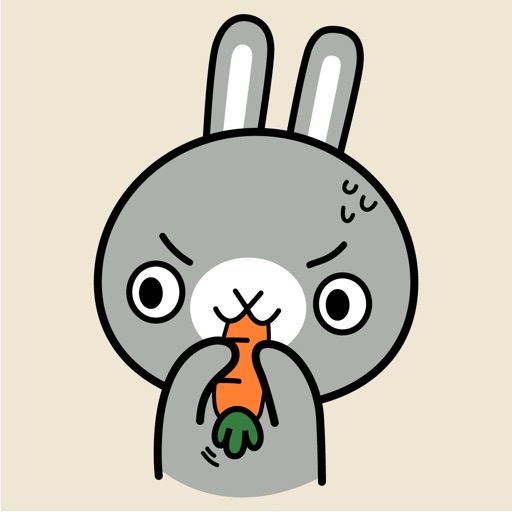 Grey Bunny Animated Stickers