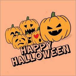 Pumpkin Halloween Stickers Set