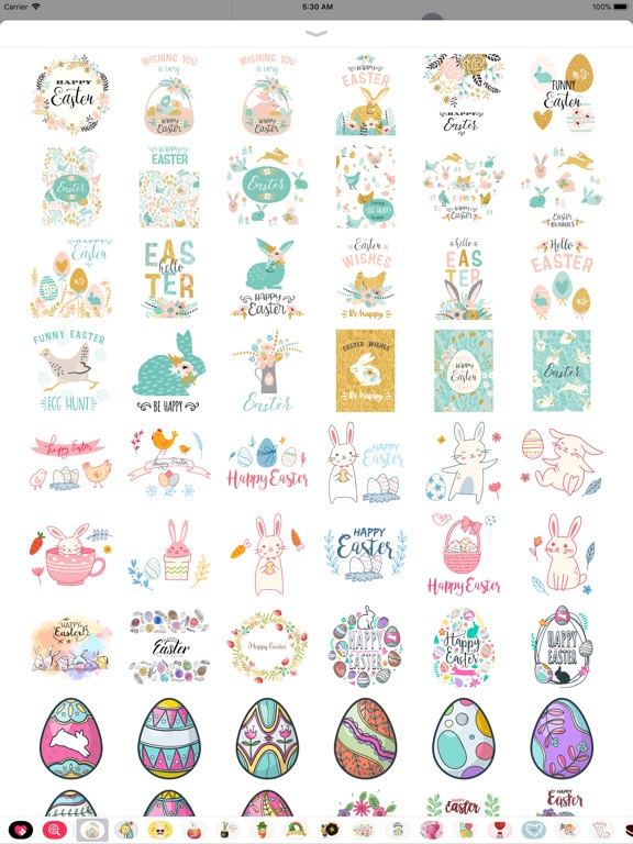 Hand Drawn Easter Day Stickers screenshot 8