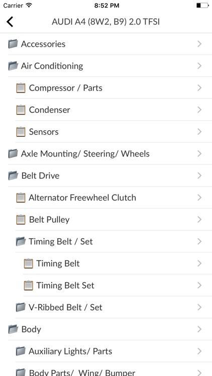 Car Parts for Audi with diagrams screenshot-4