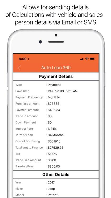 Auto Loan Calculator 360 screenshot-4