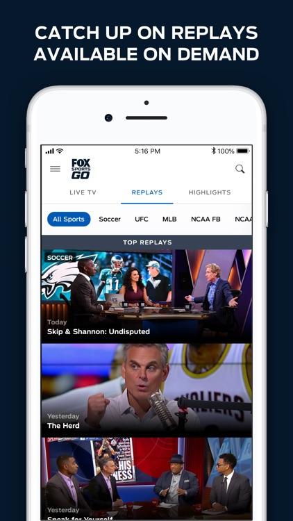 FOX Sports GO: Watch Live screenshot-3