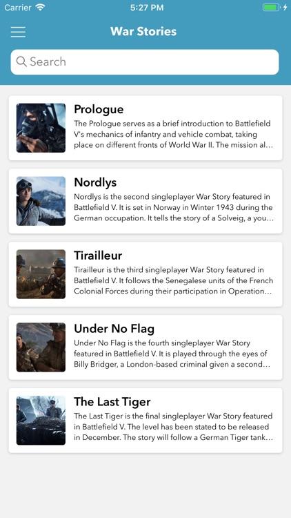 Field Guide for Battlefield V