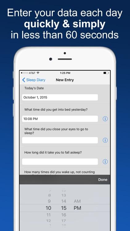 Sleep Diary with data export screenshot-0