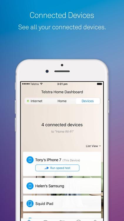 Telstra Home Dashboard™