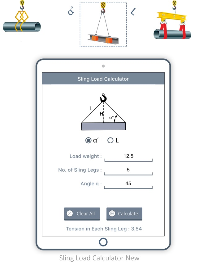 Sling Load Calculator New on the App Store