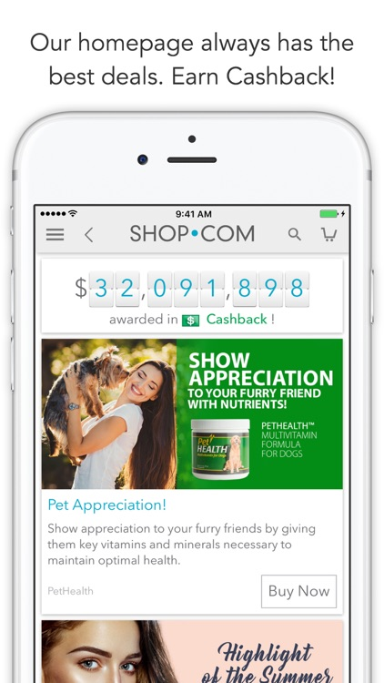 SHOP.COM Mobile -Earn Cashback