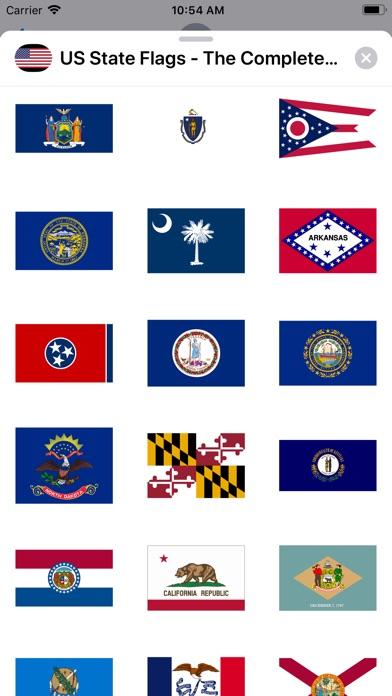 Screenshot for US State Flags Complete Set in United States App Store