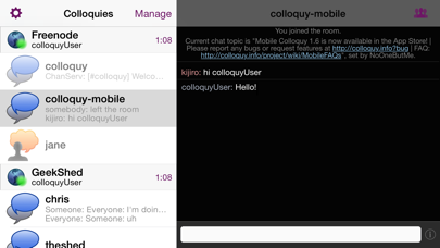 Colloquy review screenshots