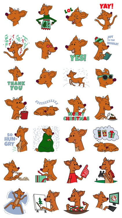Raymond the Reindeer Stickers