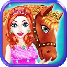 Activities of Horse Care Mane Braiding 2