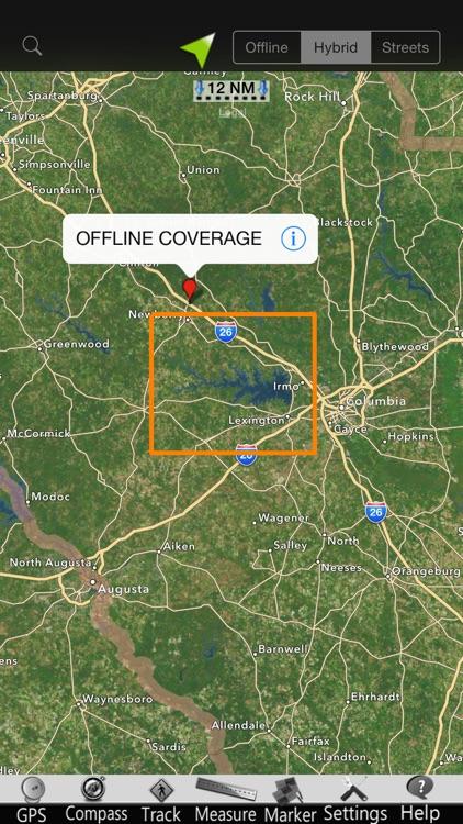 Murray lake GPS nautical Chart screenshot-4