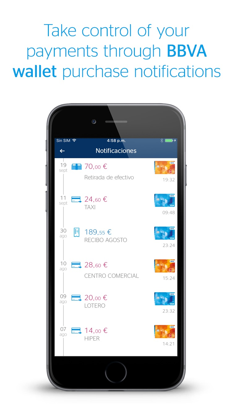 BBVA Wallet ES. Mobile Payment Screenshot