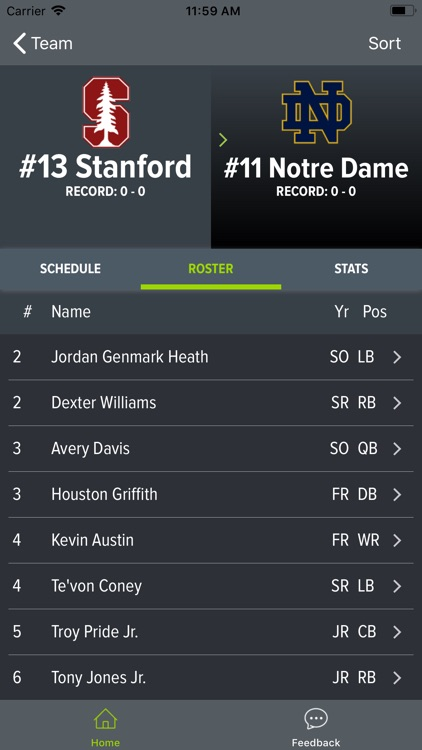 Notre Dame Football screenshot-4