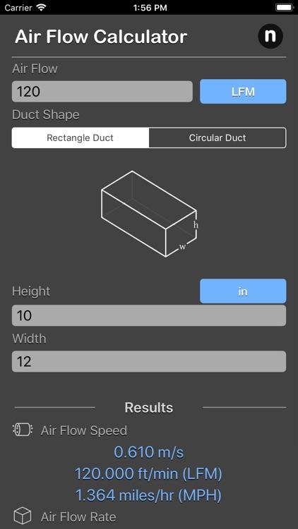 Air Flow Conversion Calculator