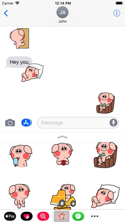 Pigs Animated Stickers