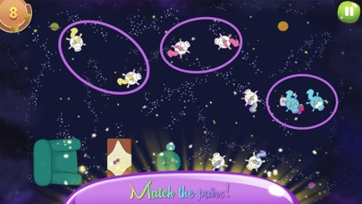 Screenshot of Space Unicorns App