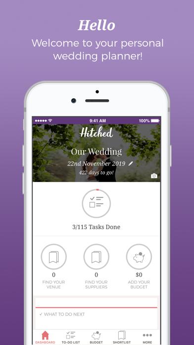 Hitched - Wedding Planner screenshot 1