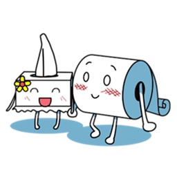 Love and Toilet Paper Sticker