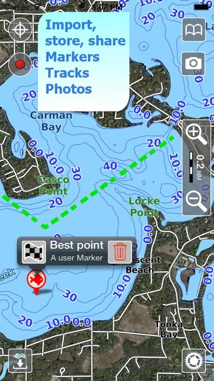 Aqua Map Michigan Lakes GPS HD