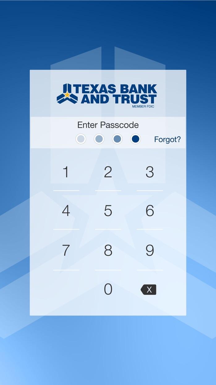 Texas Bank and Trust Mobile Screenshot