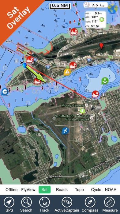 Texas Nautical Charts GPS - HD by Flytomap (iOS, United