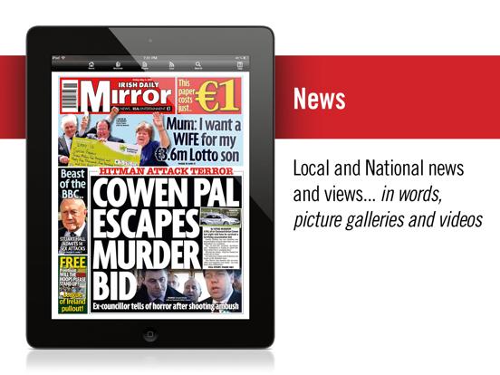 Irish Mirror Newspaper (iPad) screenshot one