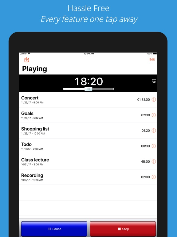 Screenshot #3 for iRecorder Pro Audio Recorder