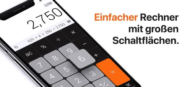 Der Taschenrechner Für Sie Im App Store