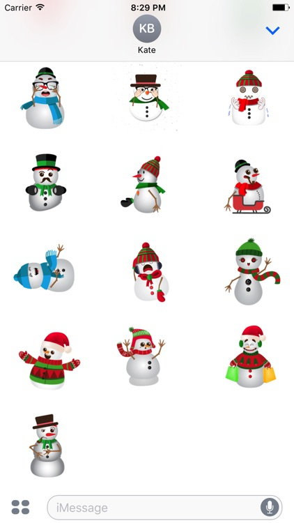 snowman animated stickers