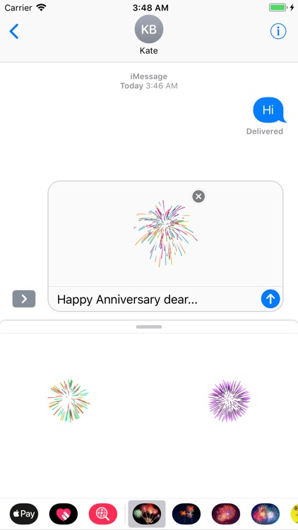Animated Fireworks for Texting
