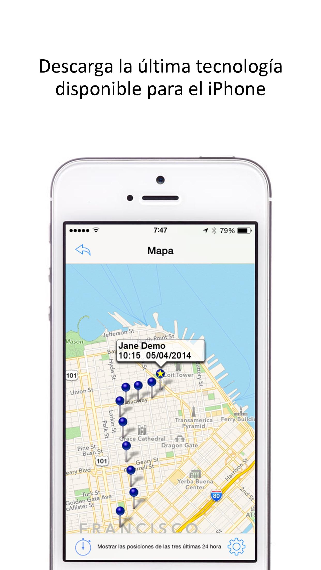GPS Seguidor de Móviles Screenshot