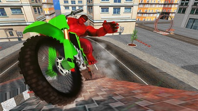 Superhero Motorcycle & Bicycle Stunt Race