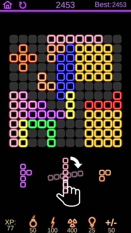 Neon Poly - Hexa Puzzle Game screenshot-1