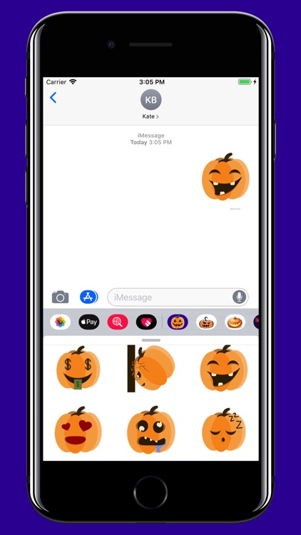 Halloween Pumpkin smiley moji screenshot-4