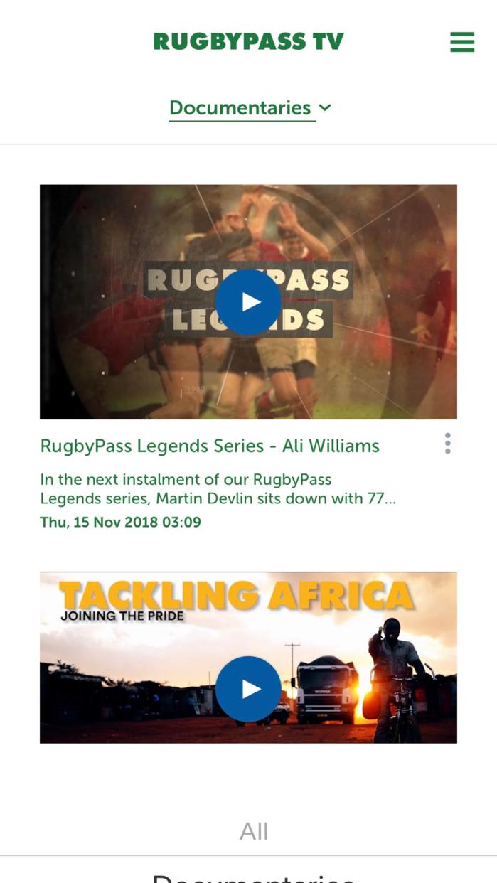 RugbyPass Screenshot