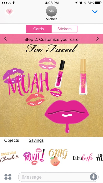 Too Faced emojis, sticker & card screenshot-3