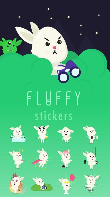 Fluffy - kawaii bunny stickers