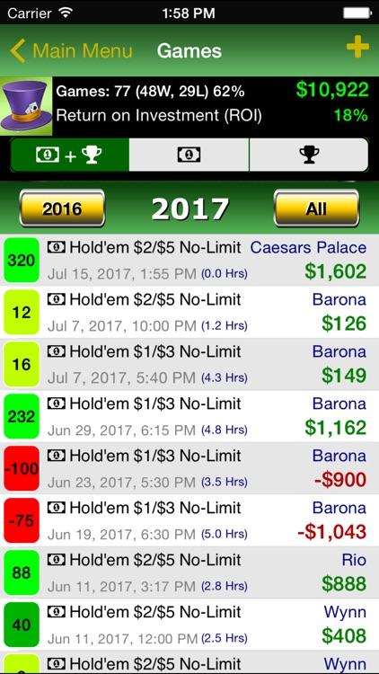 Poker Track Pro – Live Stats and Bankroll Tracker screenshot-3