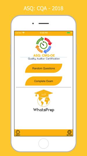 ASQ: CQA 2018 on the App Store