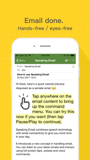 Speaking Email - voice reader on the App Store