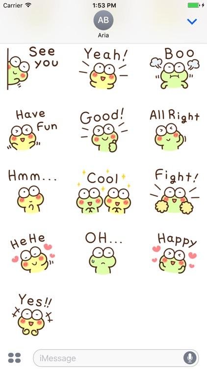 Very Cute Frog Emoji Sticker screenshot-5