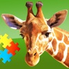 有趣的动物-儿童拼图游戏