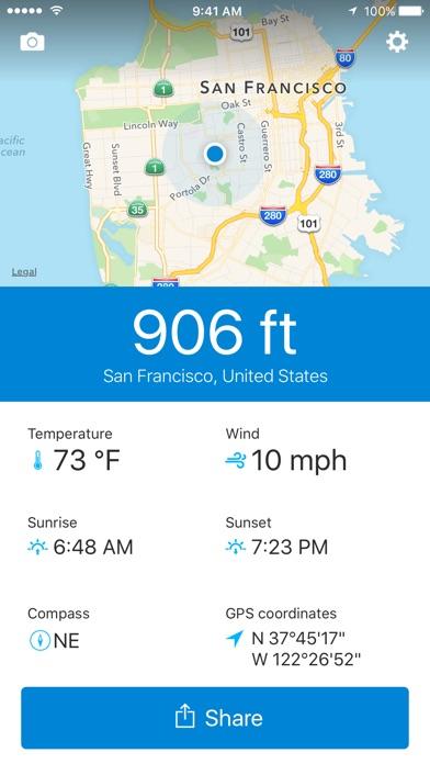runtastic Altimeter PRO with Weather & Compass Info Screenshot 1