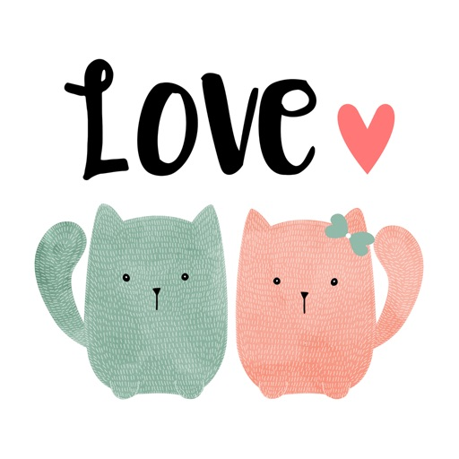 Love Quotes with Lovely & Cute Animal Couple Pack icon