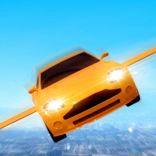 Flying Sport Car: Explore City app for ipad