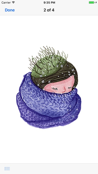 Pretty Girl in Winter Sticker screenshot 2