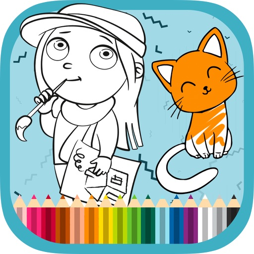 Coloring book and learn